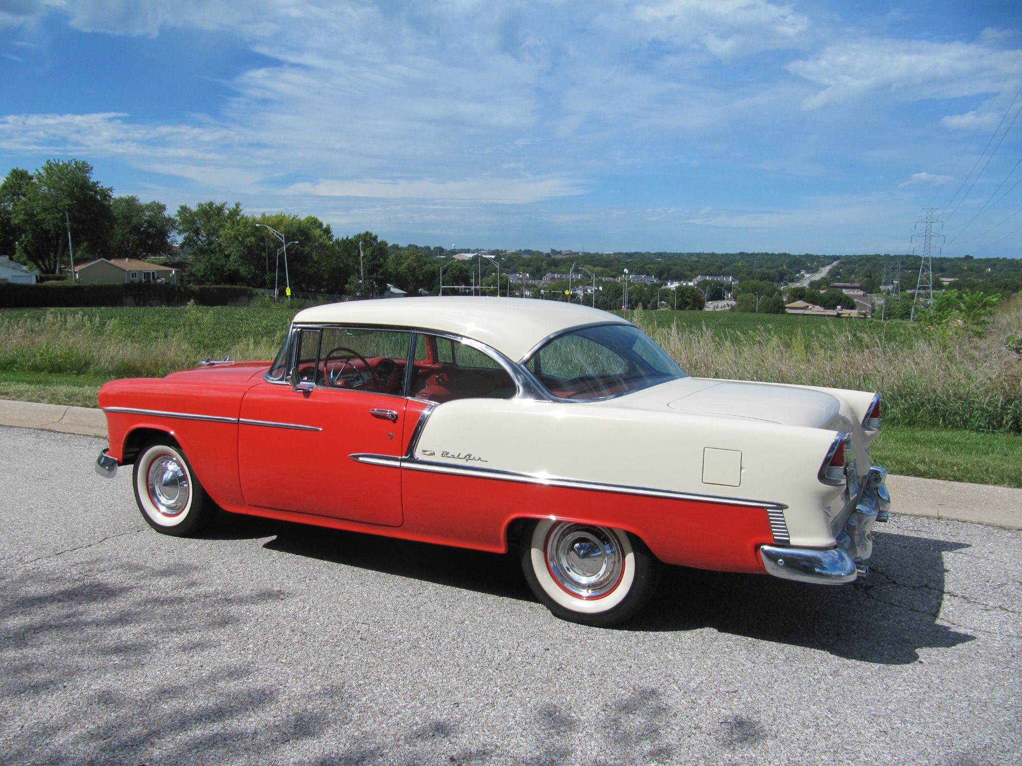 1955 Chevrolet Bel Air Sport Coupe Factory Conditioning For Sale 4 Door 27